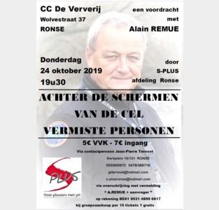 Voordracht 'Achter de schermen van de cel vermiste personen' met Alain Remue