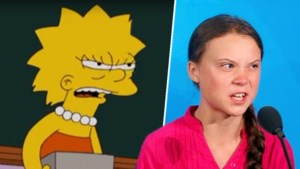 Voorspelde The Simpsons ook speech van Greta Thunberg?