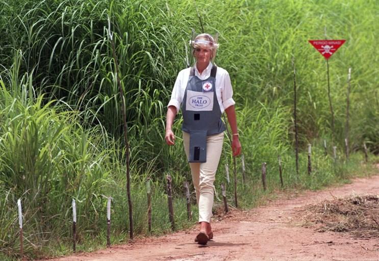 Prins Harry stapt letterlijk in de voetsporen van prinses Diana in Afrikaans mijnenveld