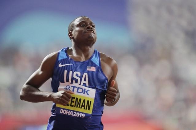 Christian Coleman maakt favorietenstatus waar op 100 meter op WK atletiek