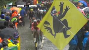 Opmerkelijke 'Vlaamse Leeuw' duikt op tijdens WK wielrennen