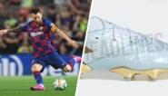 Met deze blinkende schoenen viert Lionel Messi een speciale dag in zijn carrière