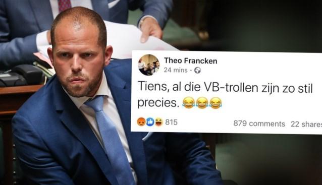"""Theo Francken excuseert zich bij Vlaams Belang-kiezers: """"Jullie zijn geen trollen"""""""