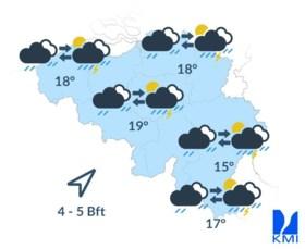 Code geel afgekondigd: paraplu's in de aanslag voor gietende regen en onweer