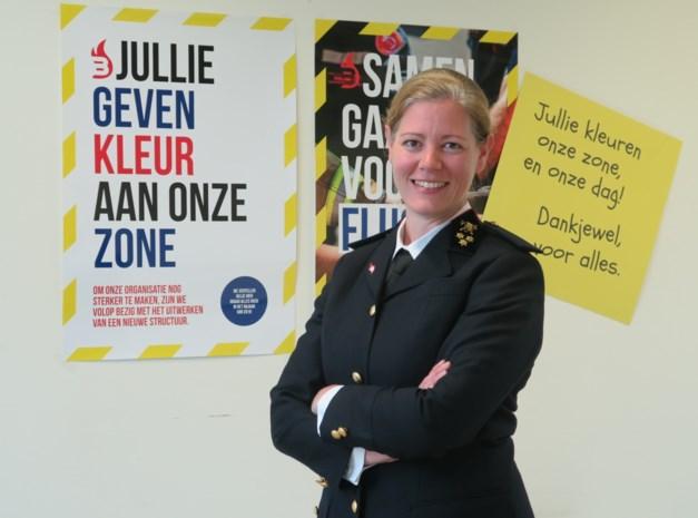 """Brandweerman Katrien (38) is de eerste vrouwelijke zonecommandant van ons land. """"Brandweermens vind ik echt een verschrikkelijk woord"""""""