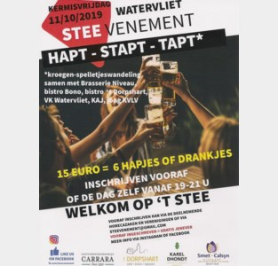 Steevenement hapt, tapt en stapt
