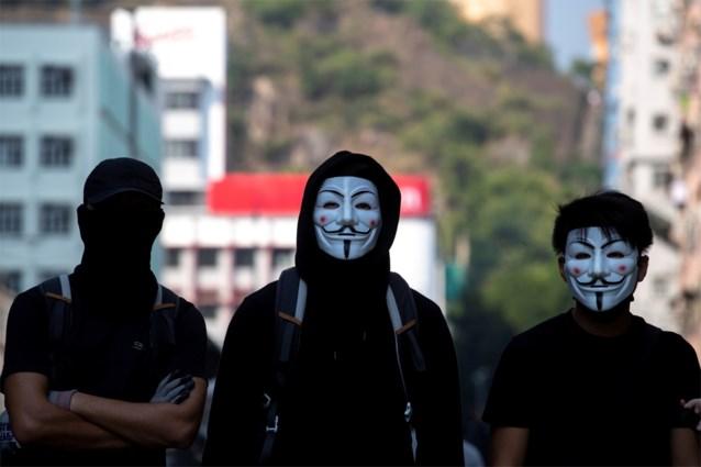 Hongkong verbiedt het dragen van maskers tijdens betogingen