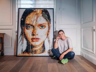 """Isabelle maakte kunstwerk voor Michèle De Bruyne: """"Dit is gevaarlijk werk. Even niet opletten en je handen bloeden"""""""