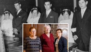 Zussen Elisa (73), Els (71) en Lijn (69) trouwden vijftig jaar geleden op dezelfde dag, nu vieren ze hun jubileum