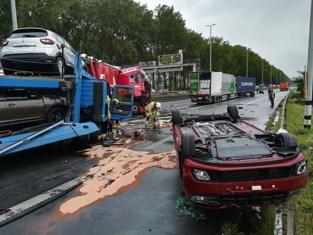 Files naar Antwerpen na twee zware ongevallen met trucks : E34 volledig versperd