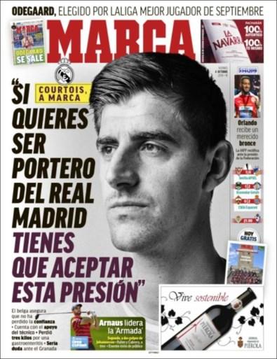 """Real Madrid reageert op geruchten dat Thibaut Courtois last zou hebben van """"angst"""", Zinédine Zidane verdedigt zijn doelman"""