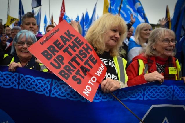Tienduizenden Schotten betogen voor Schotse onafhankelijkheid