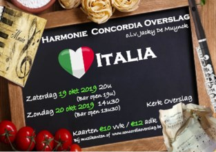 Harmonie Concordia olv Jacky De Muynck trekt naar Italië