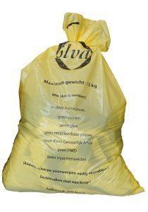 Gele vuilniszak verdwijnt vanaf 2021