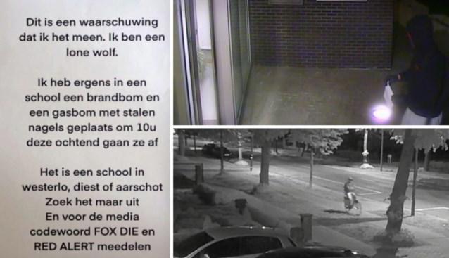 Verdachte opgepakt voor bommelding in Aarschot, Diest en Westerlo waarbij 21.500 leerlingen geëvacueerd werden