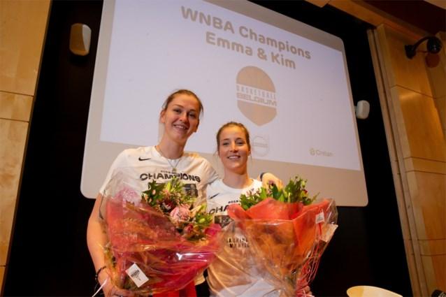 """WNBA-kampioenen Emma Meesseman en Kim Mestdagh terug in België: """"En nu naar de frituur"""""""