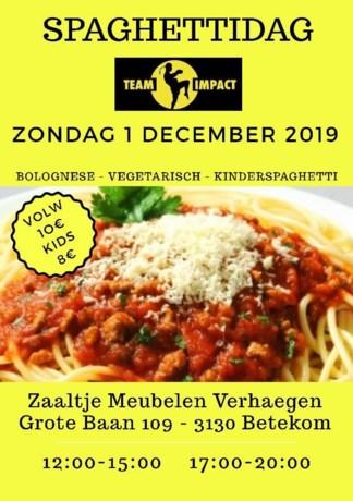Spaghettidag als steun voor Thaiboks-club Team Impact