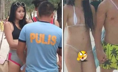 """Toeriste gearresteerd en beboet omdat ze """"te kleine bikini"""" droeg"""