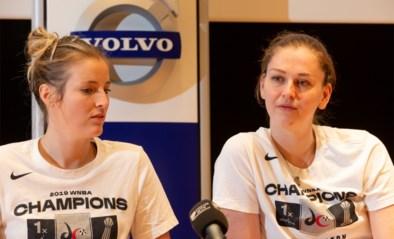 """WNBA-kampioenen Emma Meeseman en Kim Mestdagh terug thuis: """"Dat bezoek aan Trump hebben we afgeslagen"""""""