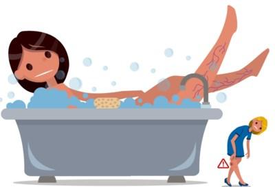 """""""Spataders zijn kleine blauwe aders en een bad maakt ze erger"""": deze mythes moet je niet geloven"""