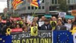 """Enkele honderden Catalanen betogen in hartje Brussel: """"Vandaag is iedereen een beetje Catalaans"""""""