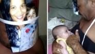 """Vader heeft hilarische manier om baby te voeden als mama niet thuis is: """"Ik moest improviseren"""""""
