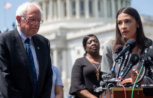 Alexandria Ocasio-Cortez schaart zich achter Amerikaans presidentskandidaat Bernie Sanders