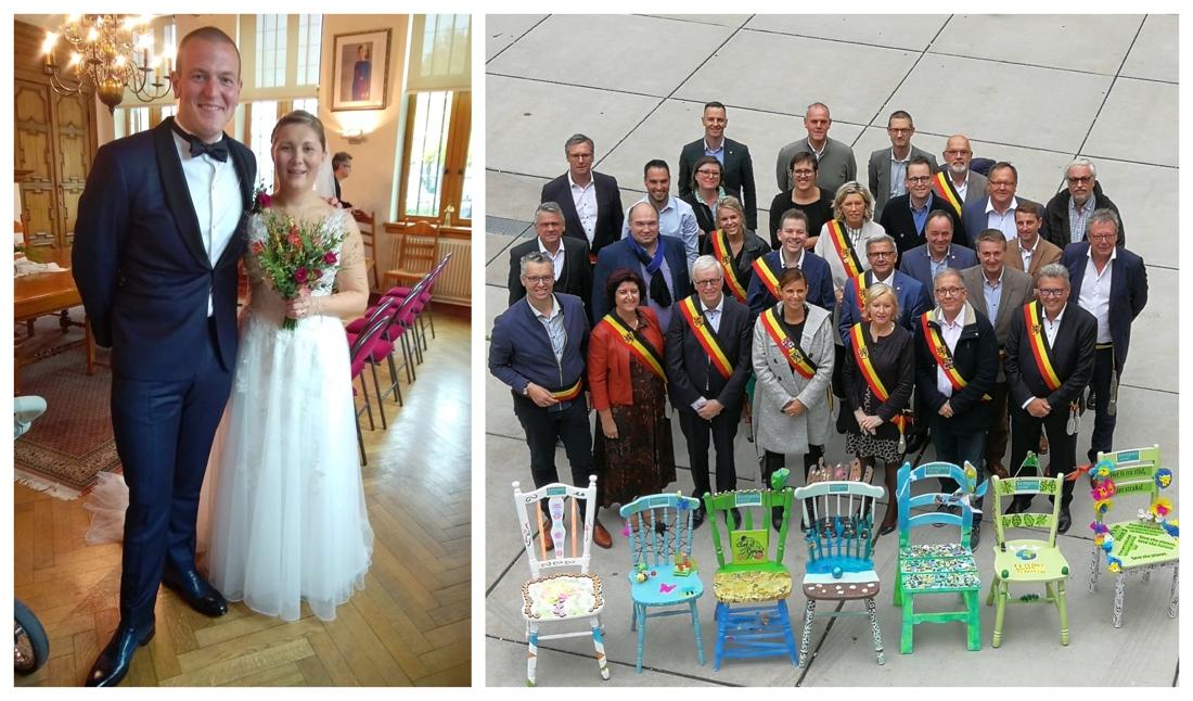 Burgemeester mist fotomoment klimaatconferentie door vergeten bruidsboeket