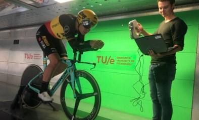 Wout van Aert zit alweer op tijdritfiets voor tests in windtunnel