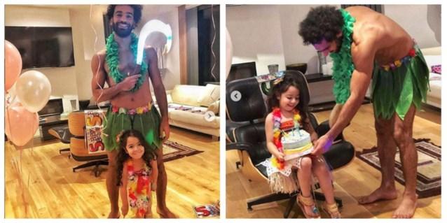 Wat doet Mo Salah als zijn dochter jarig is? Zichzelf verkleden als Disney-figuur, of wat had u gedacht?