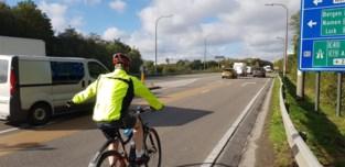 Vrijliggend fietspad tussen bedrijvenzone en Machelen