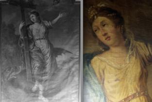 Restauratie van schilderij in Houtem te bezichtigen