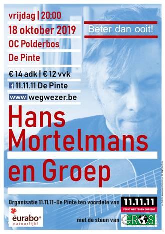 Hans Mortelmans en Groep vrijdagavond in het OCP ten voordele van 11 11 11