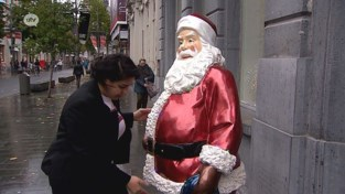 VIDEO. Ho ho ho! Kerstman is al aangekomen op de Meir