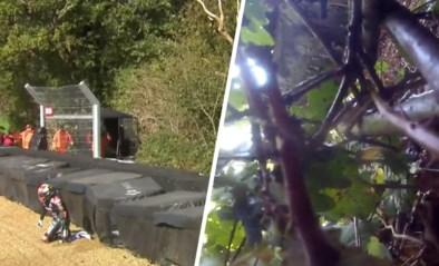 Ongeziene beelden: motorracer crasht, wil weer vertrekken maar zijn peperdure machine is spoorloos verdwenen