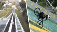 Waaghals wil verste sprong ooit maken met mountainbike, maar recordpoging loopt helemaal fout