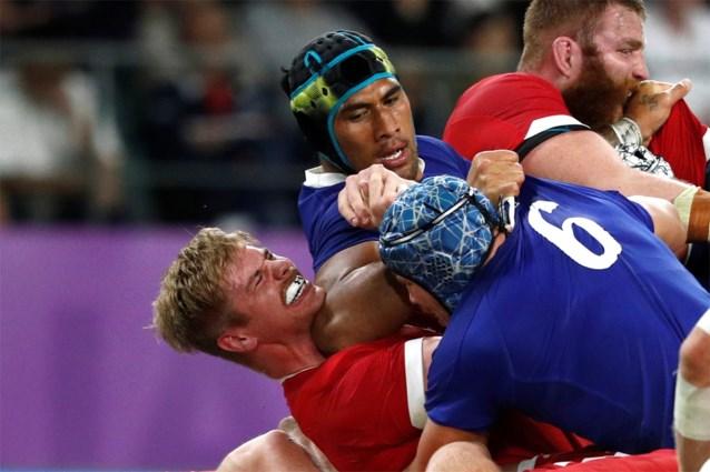 Schandalige elleboogstoot op WK rugby kost Frankrijk plaats in de halve finale