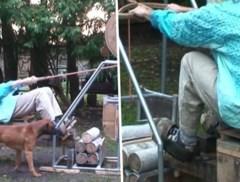 Vader 'spookgezin' deelt beelden van katten, bloemen en zelfgemaakt fitnesstoestel