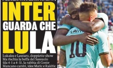 """Romelu Lukaku siert voorpagina's van Italiaanse sportkranten: """"Lula is het perfecte antwoord op Cristiano Ronaldo"""""""