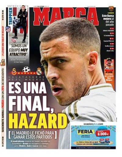 Eden Hazard meteen van roze wolk gerukt bij Real Madrid: alle druk op zijn schouders wanneer hij vliegtuig opstapt