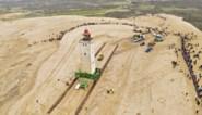 Denen verhuizen iconische vuurtoren van 722 ton 70 meter landinwaarts