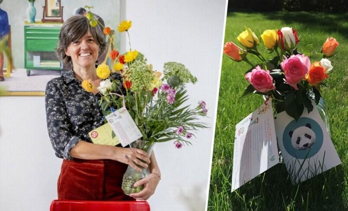 Annick (49) zette een vaas bloemen aan een onbekende voordeur. Eén maand later duiken haar vazen zelfs in Nederland op