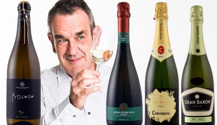 Biobubbels zitten in de lift: onze wijnkenner proeft vier mousserende wijnen uit Spanje en Italië