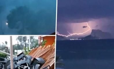 """Tornado houdt lelijk huis op Ibiza: """"Stukken van het hotel donderen naar beneden!"""""""