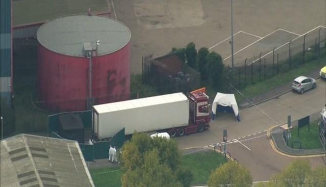 39 lichamen gevonden in truck in het Britse Essex, chauffeur gearresteerd op verdenking van moord