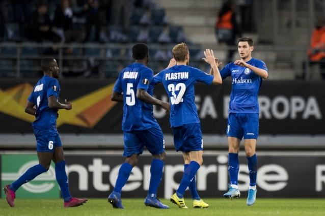 AA Gent sleept diep in blessuretijd nog een knap punt uit de brand tegen Wolfsburg