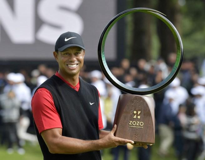 Golfer Tiger Woods bereikt nieuwe mijlpaal