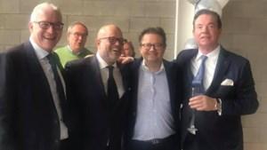 Voorzitters Bart Verhaeghe en Paul Gheysens: oorlog rond stadion, maar samen op de foto (met Marc Coucke)