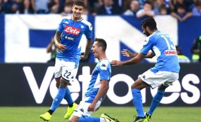 Napoli (met invaller Mertens) verliest na late gelijkmaker terrein op Juventus, Ronaldo is alweer de man