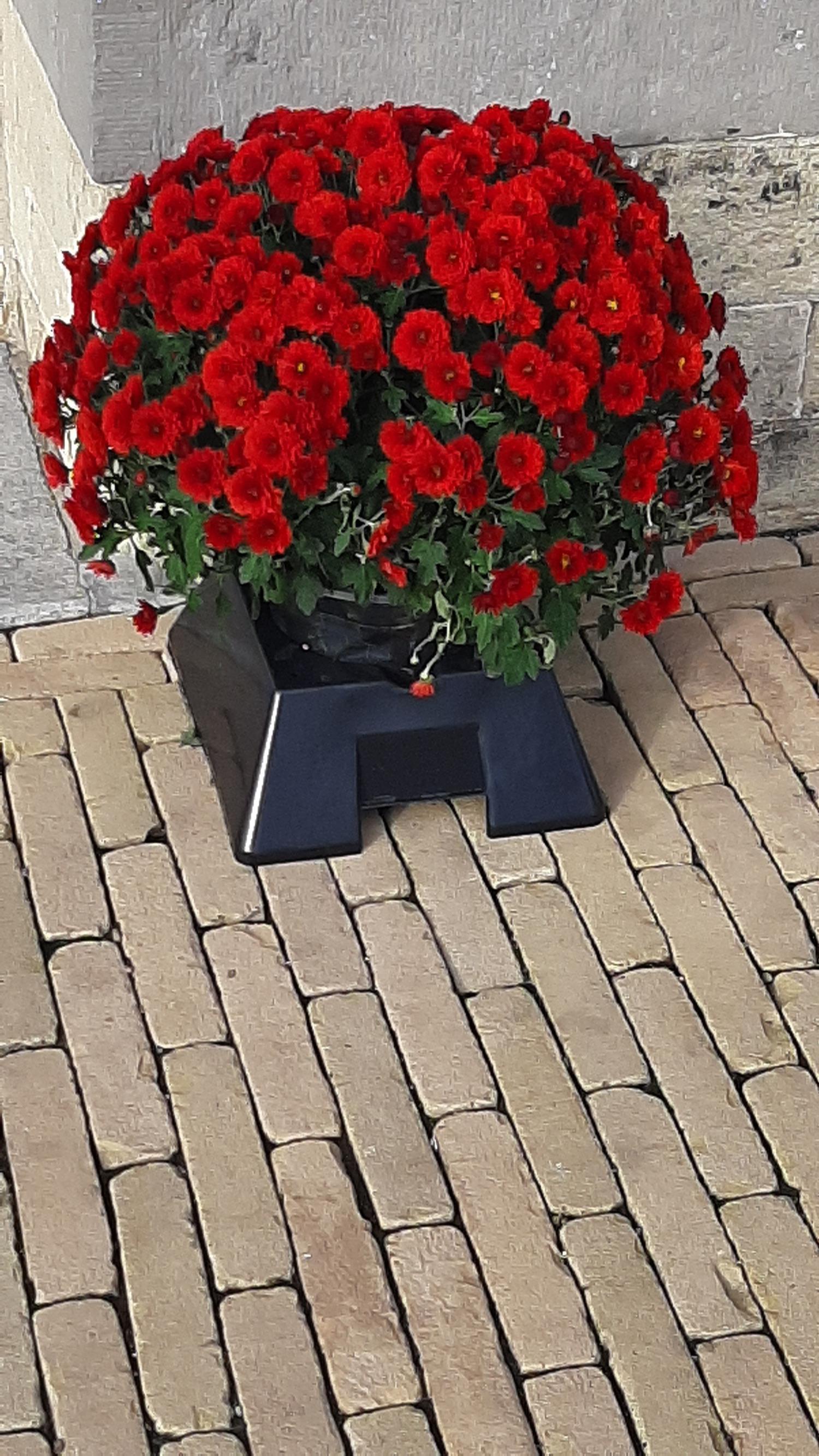 Duurzame bloempothouders houden begraafplaatsen netjes